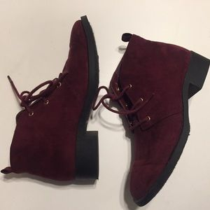 Plum colored booties